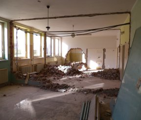 Rekonštrukcia ambulantných priestorov a modernizácia technológií polikliniky Všeobecnej nemocnice v Gelnici - stavebné práce